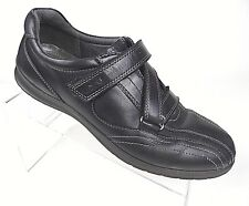 ECCO Womens Black Athletic Shoe 40 EU US 9.5 Hook Loop Strap Walking