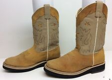 VTG YOUNG  WOMENS DOUBLE H COWBOY LEATHER BROWN BOOTS SIZE 6