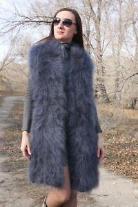 Premium Longhair Mohair Scarf hand knitting Gray Jane Rodas