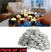 IKEA GLIMMA TEA LIGHTS Candles Pack Of 100 4 HOUR BURNING TIME 38mm WIDE