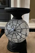 Bath & Body Works Halloween Pedestal Light Up Candle Holder Web Floating Bats