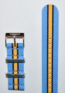 Original Tissot Quickster T095410A, T095417A Blue/ Navy/ Yellow Strap Band