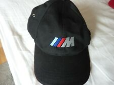 BMW M Baseball Cap Hat BLACK Adult One Size