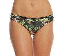 NEW Lucky Brand Coastal Palms Side Sash Bikini Swim Bottom M Medium