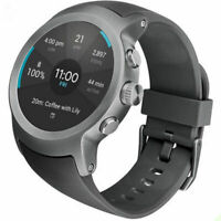 LG Watch Sport W280A Titanium Stainless Steel Case Black Classic Buckle