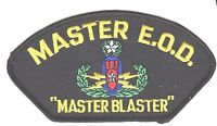 """MASTER EOD EXPLOSIVE BOMB SQUAD 5"""" EMBROIDERED MILITARY PATCH"""