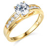 2.30 Ct Round Brilliant Cut Engagement Wedding Ring Trellis Real 14K Yellow Gold