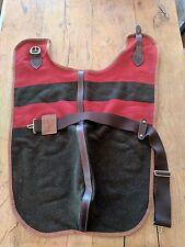 Rare Vintage Ralph Lauren Dog Coat Extra-Large 100% Wool, Leather Trim EUC