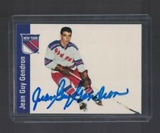 Jean Guy Gendron New York Rangers 1990's Parkhurst Autographed Card W/Our COA