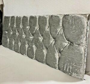 "Single 3ft Luxury Silver Crushed Velvet Divan Headboard Bed Headboards 20"" Beds"