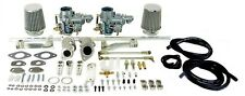 VW dual car kit for single port dual carburetor kit VW Beetle dual carbs Ghia