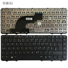 New For HP Probook 640 G1 645 G1 Keyboard UK Frame with pointer