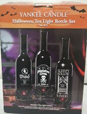 Yankee Candle Halloween Tea Holder Light Wine Bottle Set Candle Cover
