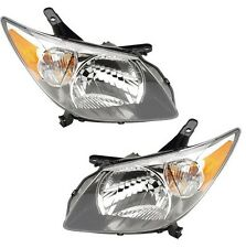 NEW Pontiac Vibe 03-04 Pair Set of 2 Front Black Housing Headlights Eagle Eyes