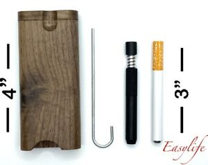 Self Cleaning Metal Pipe With Dugout and Metal Smoking Pipe Plus Clean Out Tool