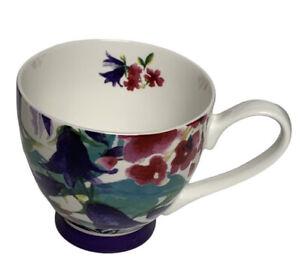 Portobello by Design Bone China Oversized Coffee Tea Cup Mug Pink Purple Teal