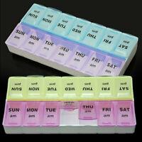 Nouveau Pilulier Boite Case de Pilule Médicament 7 Jours Semaine 14 Slots  UHG
