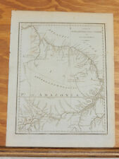 1781 Antique Map/SURINAM, BARBUTHIUS & CAYENNE, SOUTH AMERICA, AMAZON RIVER