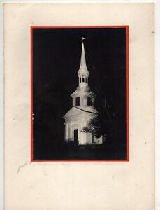 Midcentury Handmade Xmas Card w/Original Photo – Sandwich Massachusetts