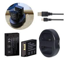 2x Battery + Dual USB Charger LP-E17 for Canon EOS M3 M5 760D 750D 800D 7D 200D