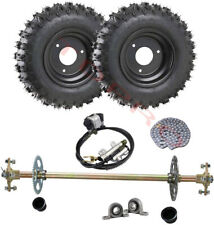 Go Kart Cart Rear Axle Assembly Kit+ 4.10-6 Tires Wheels for Quad Drift Trike
