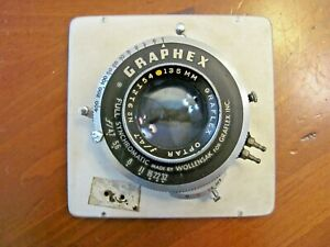 GRAPHEX OPTAR FULL SYNCHROMATIC BY WOLLENSAK f/4.7 .No 912154-135 mm CAMERA Lens