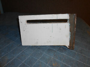 """Vintage American Radiator (A.R. & S.S.) 1' x 7"""" Right End cast iron baseboard"""