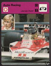 JAMES HUNT Formula 1 1976 McLaren Car Auto Racing 1977 SPORTSCASTER CARD 05-21