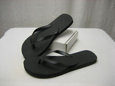 Unisex Men's Women's Black Flip Flop Sandal Size 7 8 About 11 Inches Long