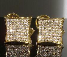 Iced Out Custom Hip Hop Xx-Large Earrings $150 Xxl Mens Gold Gp Diamond Simulate