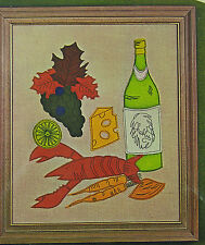 VINTAGE BUCILLA CREATIVE NEEDLECRAFT MOD STILL LIFE PICTURE or WALL PANEL #8159