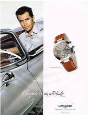PUBLICITE ADVERTISING   2002     LONGINES  montre DOLCEVITA homme