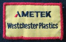 AMETEK WESTCHESTER PLASTIC EMBROIDERED SEW ON ONLY PATCH ADVERTISING UNIFORM