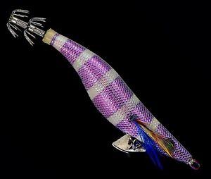 Nakatomi squid jig Turquoise Stripe Glow purple egi Pro fishing lure Size 3.0