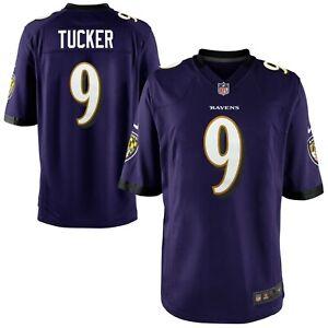 Justin Tucker Baltimore Ravens Nike Youth Game Jersey - Purple