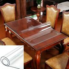 PVC Crystal Clear Plastic Table Cover Mat Thick for Desk Dining Table 100x180 Cm