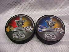 2017 NHL Stanley Cup Playoffs Nashville Predators Hockey (2) Puck Souvenir Pack
