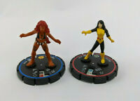 Wizkids Heroclix Marvel Fantastic Forces 2005 Figures Retired - Karma & Tigra