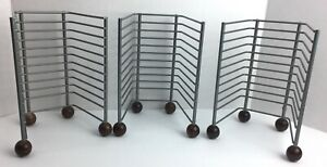 CD Jewel Case Table Top Storage Rack Organizer LOT of 3 Brushed Metal R19H