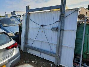 2.4m high x 4.0mtr Wide Double Leaf Palisade gate c/w. SHS Gateposts -Galvanised