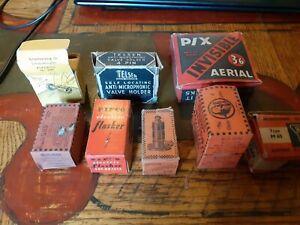 9 Objects In Boxes - Valve, Transformer,  Bulgin, Condenser, Resistance
