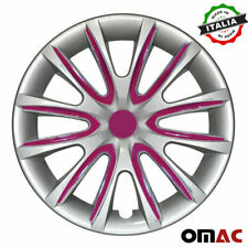 "16"" Inch Hub Cap Wheel Rim Cover for Mazda Gray with Violet Insert 4pcs Set"