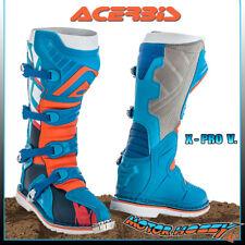 STIVALI ACERBIS MOTOCROSS CROSS ENDURO X-PRO V. VIBRAM BLU ARANCIO TG.42