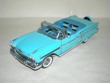 1958 CHEVROLET IMPALA LITE BLUE DANBURY MINT   MIB.1:24 SCALE
