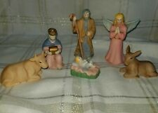 Current Inc Nativity Figurines Baby Jesus Angel Donkey Cow Wiseman Shepherd