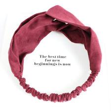 j Women Colorful Elastic Turban Head Wrap Headband Twisted Knotted Hair Band