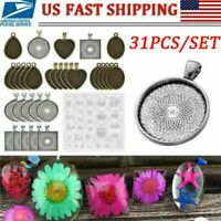 31pcs Resin Casting Silicone Molds Epoxy Spoon Kit Jewelry Making Pendant Craft