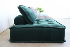 Modular Fabric Lounge Chair - Mid Century - Dark Green Velvet
