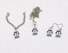 Felix The Cat Girl's Jewelry Set ~ Necklace, Earrings, Bracelet #FLX-WRD-02