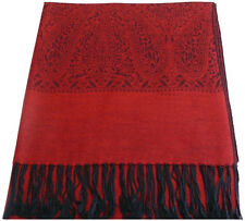 Red & Black Paisley Pattern Design Shawl Pashmina Scarf Wrap CJ Apparel **NEW**